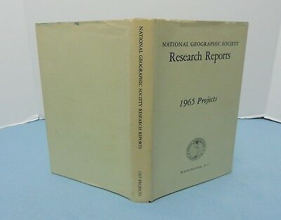 National Geographic Society -- RESEARCH REPORTS 1965 (volume 6, 1971) w/ MAP sup