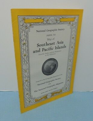 INDEX booklet October 1944 Map SouthEast ASIA + Pacific Is ~ National Geographic