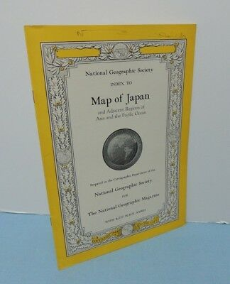 INDEX booklet to April 1944 Map JAPAN + adjacent regions ~ National Geographic