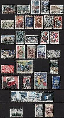 Ag146* Lot x33 Timbres Neuf**MNH TBE (Année Complète Yvert 1965) ns°1435 -> 1467