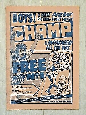 CHAMP Boys Comic #1 ISSUE 1 (Feb 1984) FLYER - VERY SCARCE !! VG+ beano football