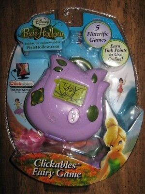DISNEY Pixie Hollow Clickables Fairy Game - 5 Games - Earn Tink Points - New!