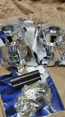 Nos Obsolete Classic Performance Machine Show Polished Billet Hubs Wide Glide
