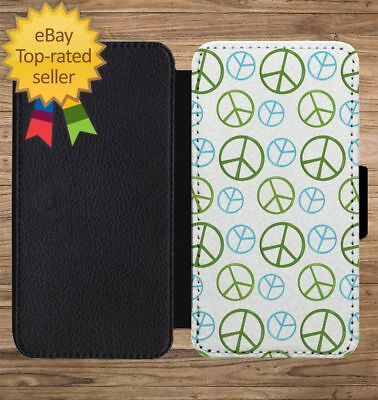 Earth Day Recycle Peace Print Wallet Phone Case for iPhone 5 6 7 8 X XS Max XR