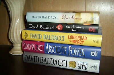 5 Hardcover David Baldacci Absolute Power 1st/1st Long Road to Mercy One Summer