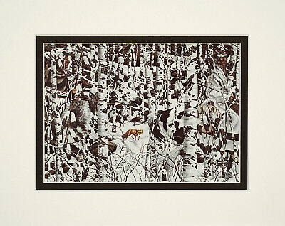 Woodland Encounter by Bev Doolittle 8x10 double matted art print