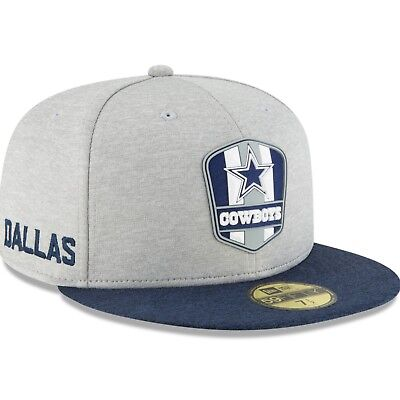 Dallas Cowboys 2018 Nfl New Era 59Fifty Official Road Sideline Fitted Hat   38 82ca962c8