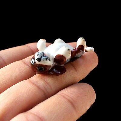 New Beagle Puppies Dog Ceramic Figurine Hand Painted Collectibles Art Decor Cute
