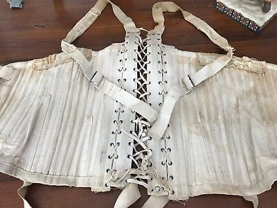 ANTIQUE Corset VICTORIAN EDWARDIAN Lace-Up ORIGINAL (4)