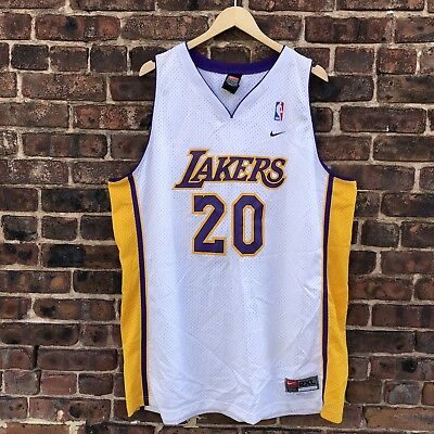 e67fde7b0 Vintage Los Angeles Lakers Gary Payton Nike Swingman Jersey 2XL + 2 NBA LA  Laker