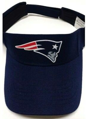 Read Listing! New England Patriots Handcrafted FLAT LOGO on Navy visor cap hat!