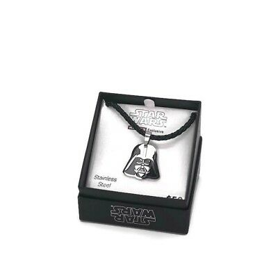 Disney Star Wars Stainless Steel Darth Vader Necklace NEW in Box Never Worn