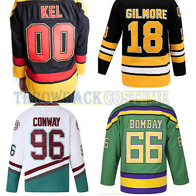 best service fe790 0b263 D1 D2 D3 The Mighty Ducks Movie Ice Hockey Jersey #96 Charlie Conway Size  S-3XL