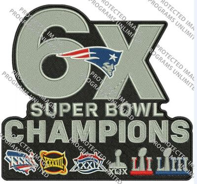 Super Bowl 53 Liii Patch Patriots 6X Champions Superbowl Jacket Style Nfl Champ