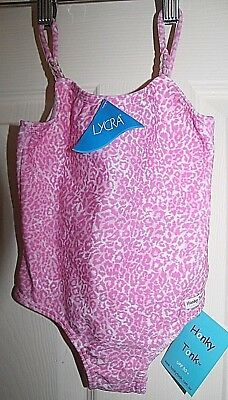 New with Tags Baby Girls pink & white one piece Bathers size 12 months