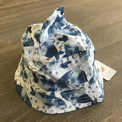 b05896c1fdd1f NWT Gymboree Boys Shark Sun Bucket Hat Size 6-12m