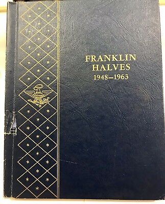 1948-1963 Franklin Silver Halves COMPLETE Collection, 35 Silver Coins! FREE SHIP