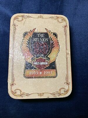 Harley Davidson TIN The Reunion 90 Years 1903-1993 For The Zippo Lighter