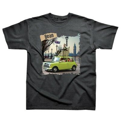 OFFICIAL Mr Bean and his Mini Grey Mens T-Shirt Top (NEW)