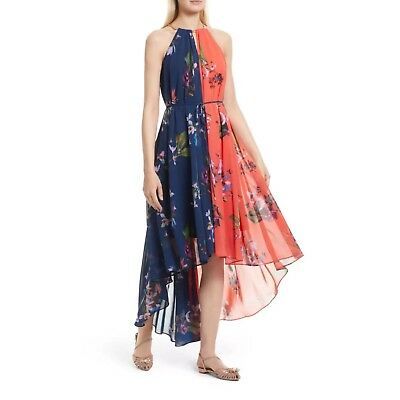 05df7be0515b4 Ted Baker London Hanie Tropical Oasis Halter Neck Maxi Dress Navy TB 2 US 6