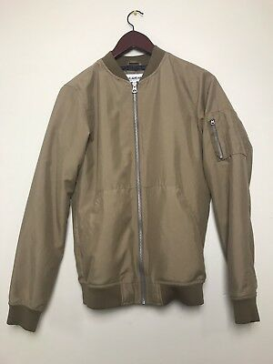 eb82d79e6 PULL & BEAR Designer Men's Brown/Tan Bomber Jacket