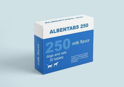 Albentabs 250 Deworming of dogs and cats Albendazole 250mg 30tablets milk flavor