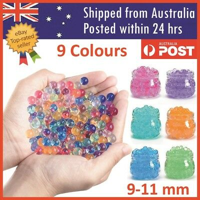 Orbeez Crystal Soil Water Balls Pearls Jelly Gel Beads Party Activity 9-11mm
