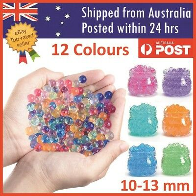 Orbeez Crystal Soil Water Balls Pearls Jelly Gel Beads Party Activity 10-13mm
