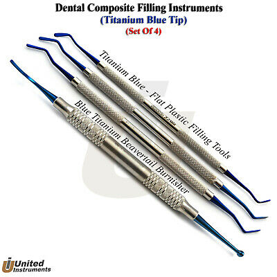 Titanium Amalgam Composite Flat Plastic Filling Instrument Bearvertail Burnisher