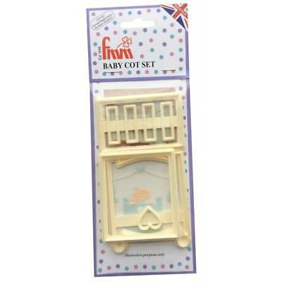 FMM Baby Cot Icing Cutter Fondant Cake Baby Birth Christening Cutting Tool