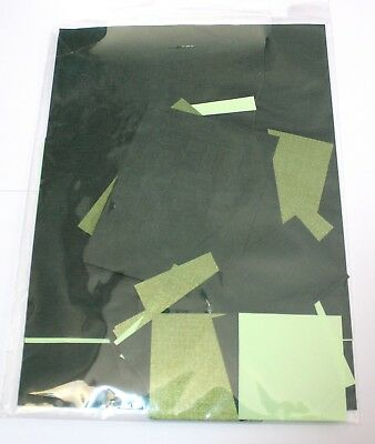 Assorted Sizes & Green Colour Themed Scrap Pack Of Craft Paper