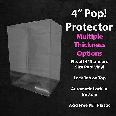 """3.75"""" Standard Size Funko Pop! Vinyl Protector Case at 0.35mm & 0.60mm Thick"""