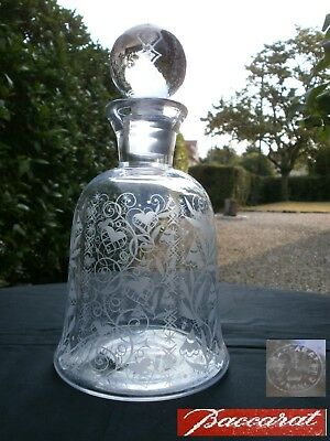 Rare Ancienne Carafe Cristal Baccarat Modele Argentina Signee Art Deco 1930