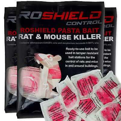 Roshield 120 Rodent Pasta Poison Sachets For Mouse Mice Rat Control Bait Refill