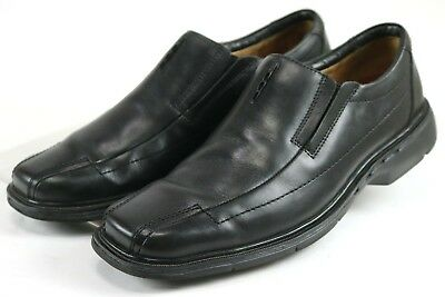 68e81a2dc4d Clarks Unstructured  90 Men s Loafers Dress Shoes Size 10.5 Narrow Leather  Black
