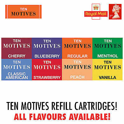 Ten Motives Refill Cartridges x4 per Pack All Flavours 11mg and 16mg