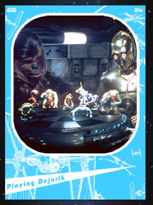 Topps Star Wars Card Trader Marathon 2019 A New Hope Chewbacca & C-3Po Blue