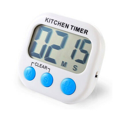 2 Pack Digital Kitchen Timer Magnetic LCD Count Down, Time Loud Alarm - T2