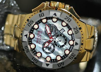 Invicta Mens Rare Excursion Swiss Reserve Chrono Grey MOP Dial Steel Watch 13083