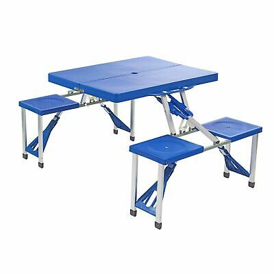 Portable Folding Camping Outdoor BBQ Dining Picnic Table Chairs Set