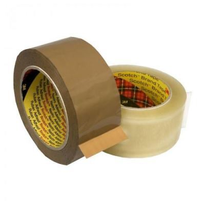 3M 371 Scotch Clear & Buff Parcel Packing Packaging Tape 48mm x 66m