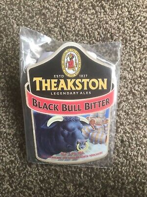 Theakston Black Bull Bitter Beer Pump Clip Breweriana Brand New Free Fast P+P