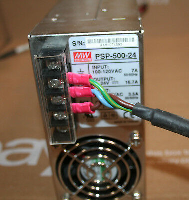 Mean Well MW PSP-500-24 24 VDC 500W Regulated Power Supply input 120/240vac