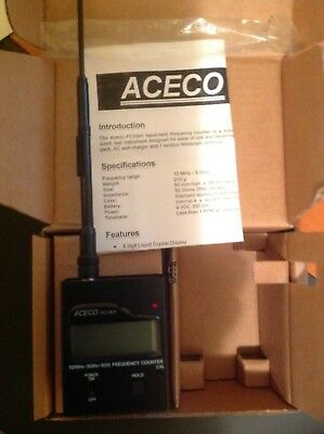 Aceco FC1001 Hand-held frequency counter (10MHz-3GHz)/BUG Detector