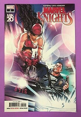 Marvel Knights 20th 2A Shaw Cover Elektra Punisher New Marvel 2018 NM