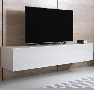 Mueble TV modelo Luke H2 (160x30cm) color blanco