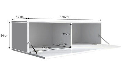 Mueble TV modelo Forli M (100 cm) en color blanco con negro