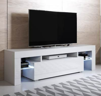 Mueble TV modelo Unai (160x45cm) color blanco con LED RGB