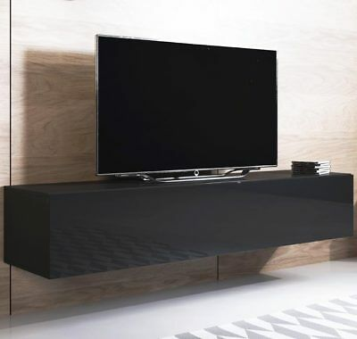 Mueble TV modelo Luke H2 (160x30cm) color negro