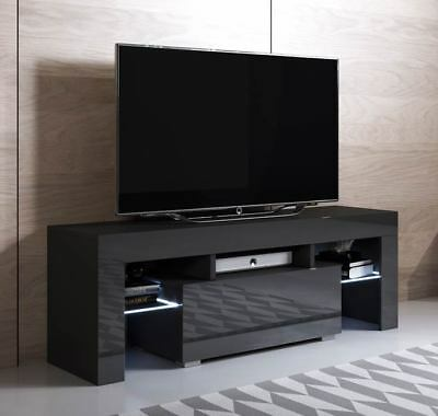 Mueble TV modelo Elio (130x45cm) color negro con LED RGB